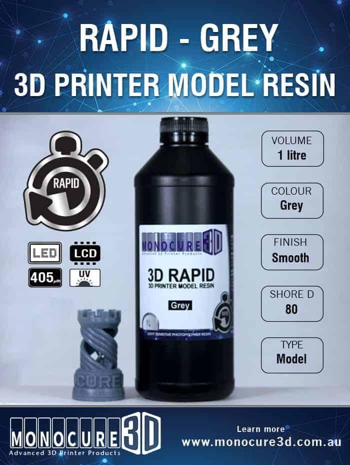 3D RAPID RESIN - GREY (1 Ltr)