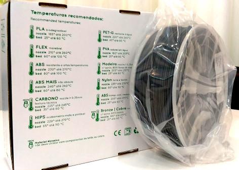 ABS RepRap PT - 2.85mm 1Kg - Cinza Antracite Ral 7011