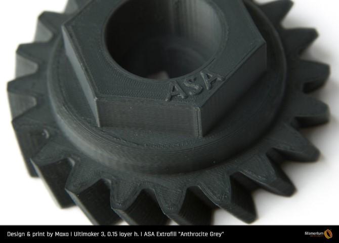 ASA Fillamentum - 1.75mm 750Gr - Anthracite Grey