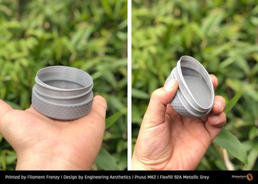 """Flex Fillamentum- 1.75mm 500gr - Flexfill 92A """"Metallic Grey"""""""