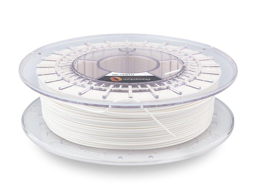 "Flex Fillamentum- 1.75mm 500gr - Flexfill 98A ""Traffic White"""