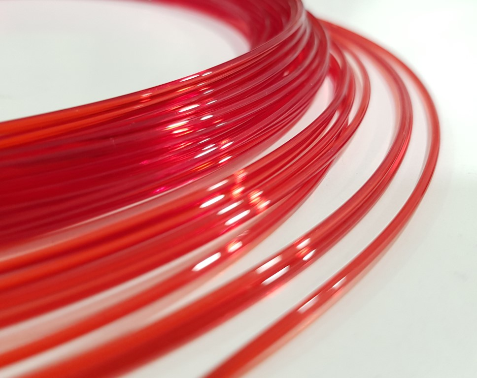 CPE HG100 Fillamentum - 1.75mm 50Gr - Red Hood Transparent