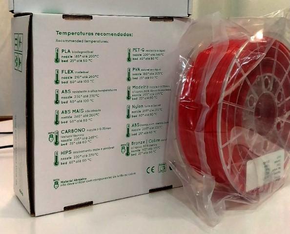 PETg RepRap PT - 2.85mm 1Kg - Vermelho Opaco