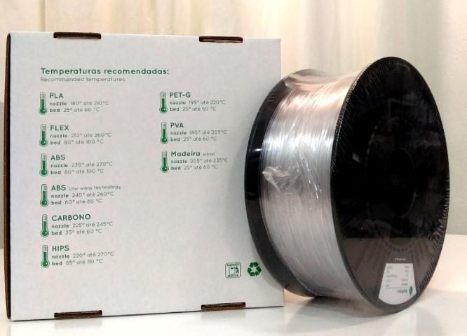 PETg RepRap PT - 2.85mm 1Kg - Transparente