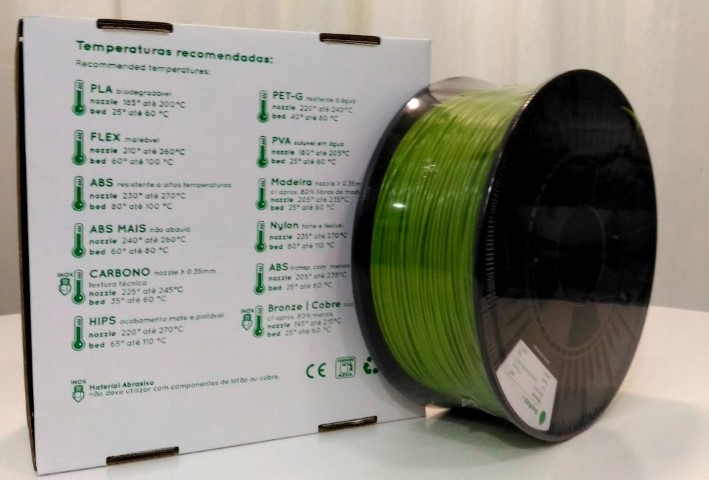 PETg RepRap PT - 1.75mm 1Kg - Verde Opaco Ral 6018