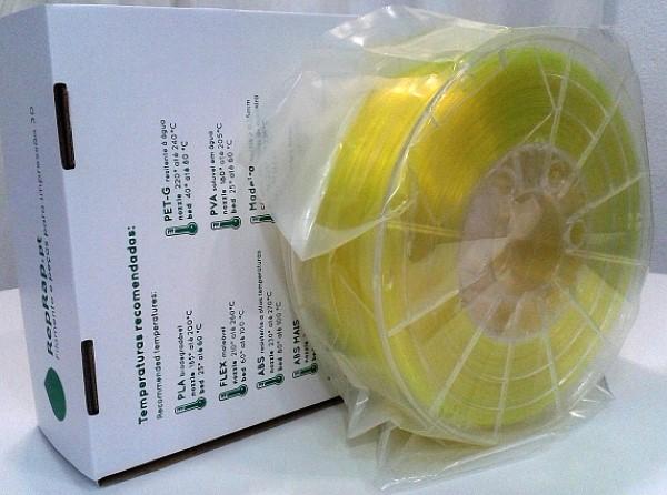 PETg RepRap PT - 1.75mm 1Kg - Amarelo Luminoso