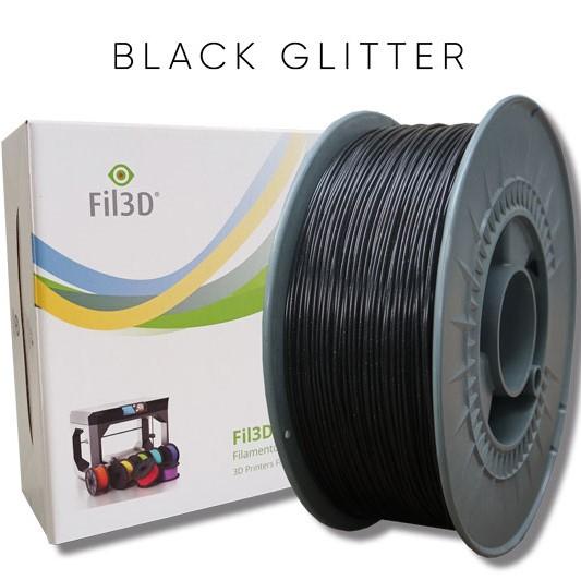 PLA Tucab 4032D - 1.75mm 1Kg - Glitter Preto