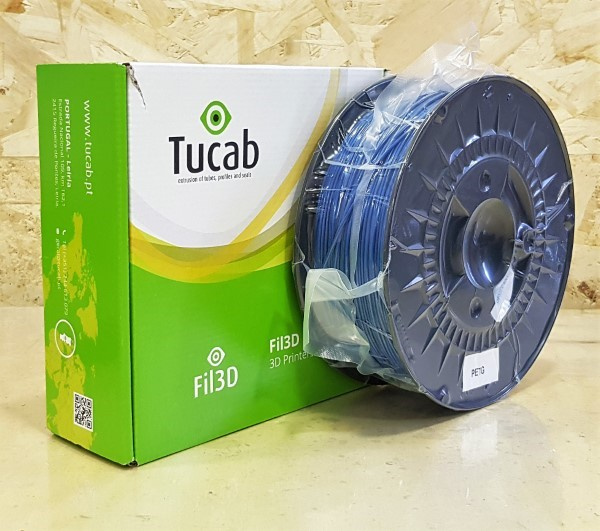 PETg Tucab - 1.75mm 1Kg - Azul Opaco