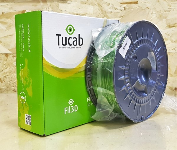 PETG Tucab - 1.75mm 1Kg - Verde Translúcido