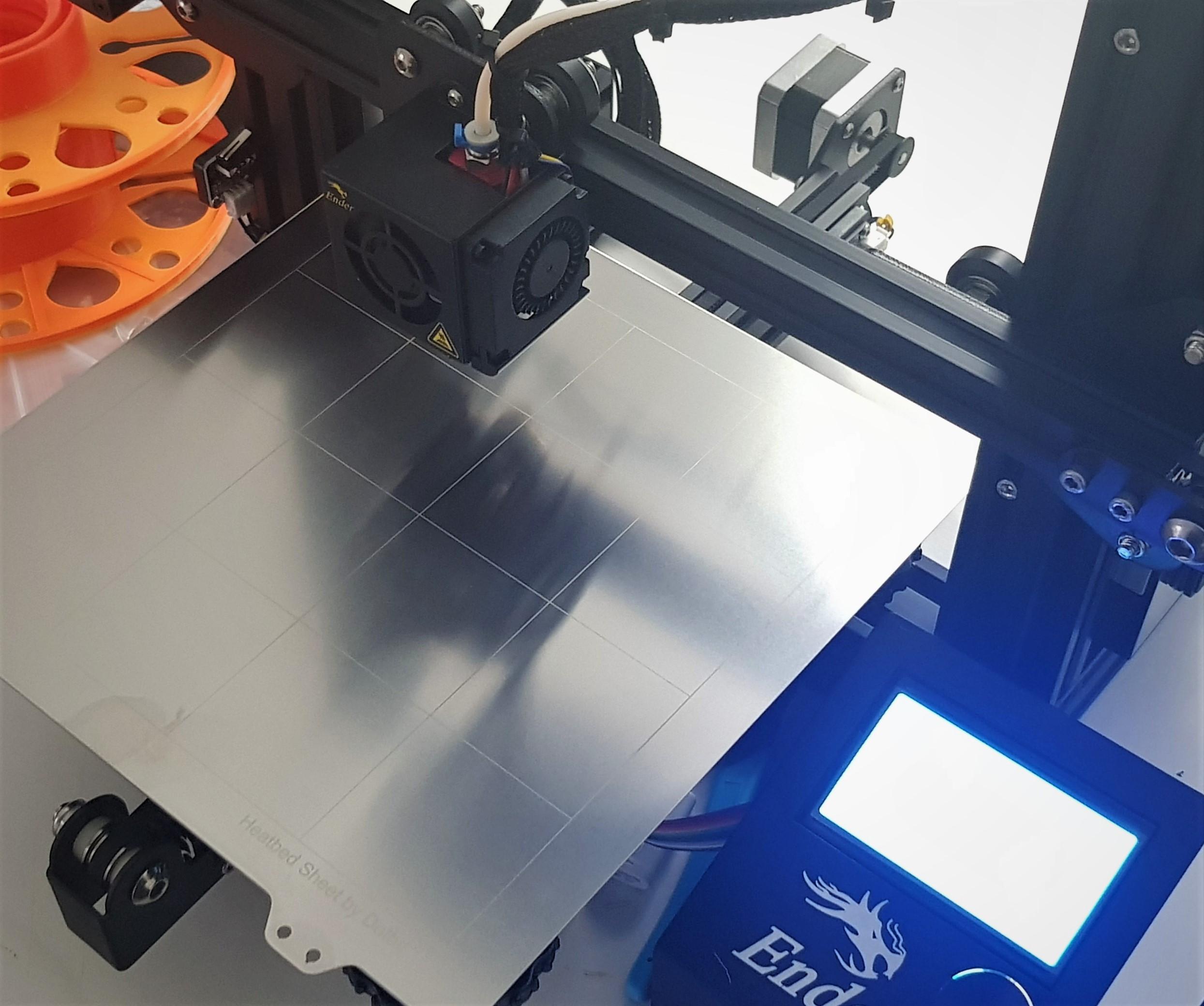 Chapa de Aço Flexivel de 235 mm com adesivo magnético para Creality Ender 3