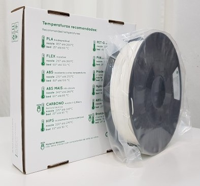 Flexível TPC RepRap PT - 1.75mm 500gr - Branco