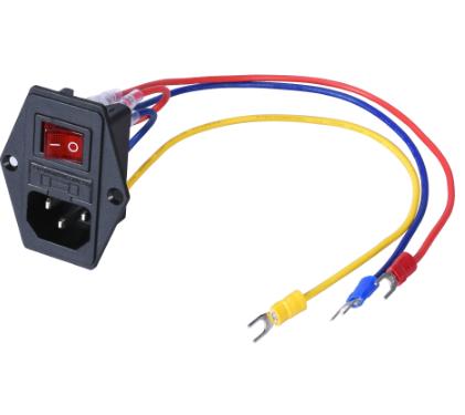 Interruptor e ficha c/fusível e cabos IEC 320 C14