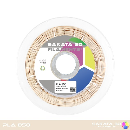 PLA INGEO 3D850 Sakata 3D - 1.75mm 1Kg - SKIN TONE 1