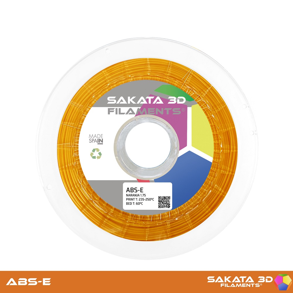 ABS-E Sakata 3D - 1.75mm 1Kg - ORANGE