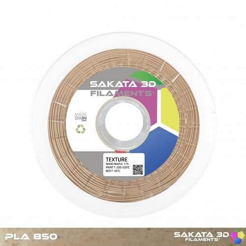Text Wood Mapple PLA 1.75mm 450gr