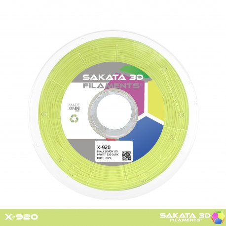 Flexível X-920 Sakata 3D - 1.75mm 450gr - LEMON CHALK