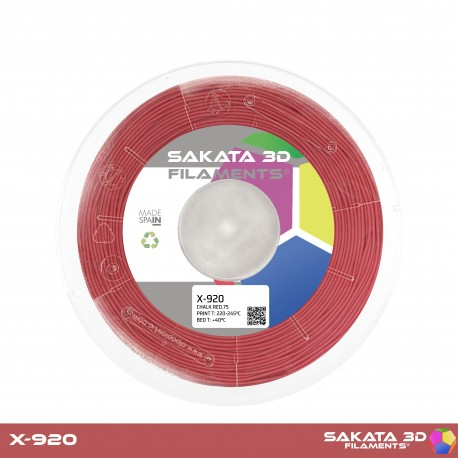 Flexível X-920 Sakata 3D - 1.75mm 450gr - RED CHALK