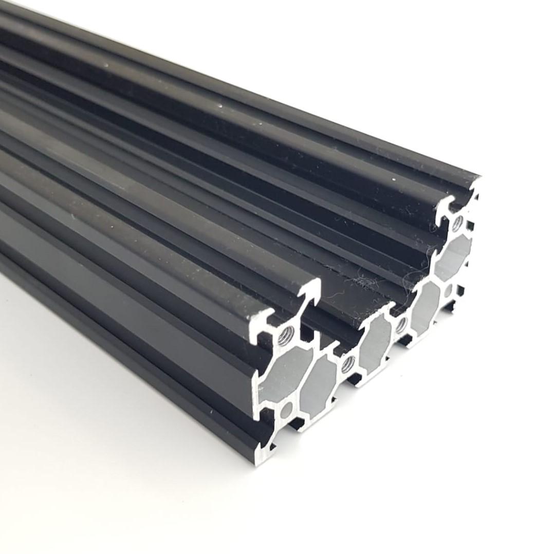 C-Beam Alumínio Preto - 1,5 metros