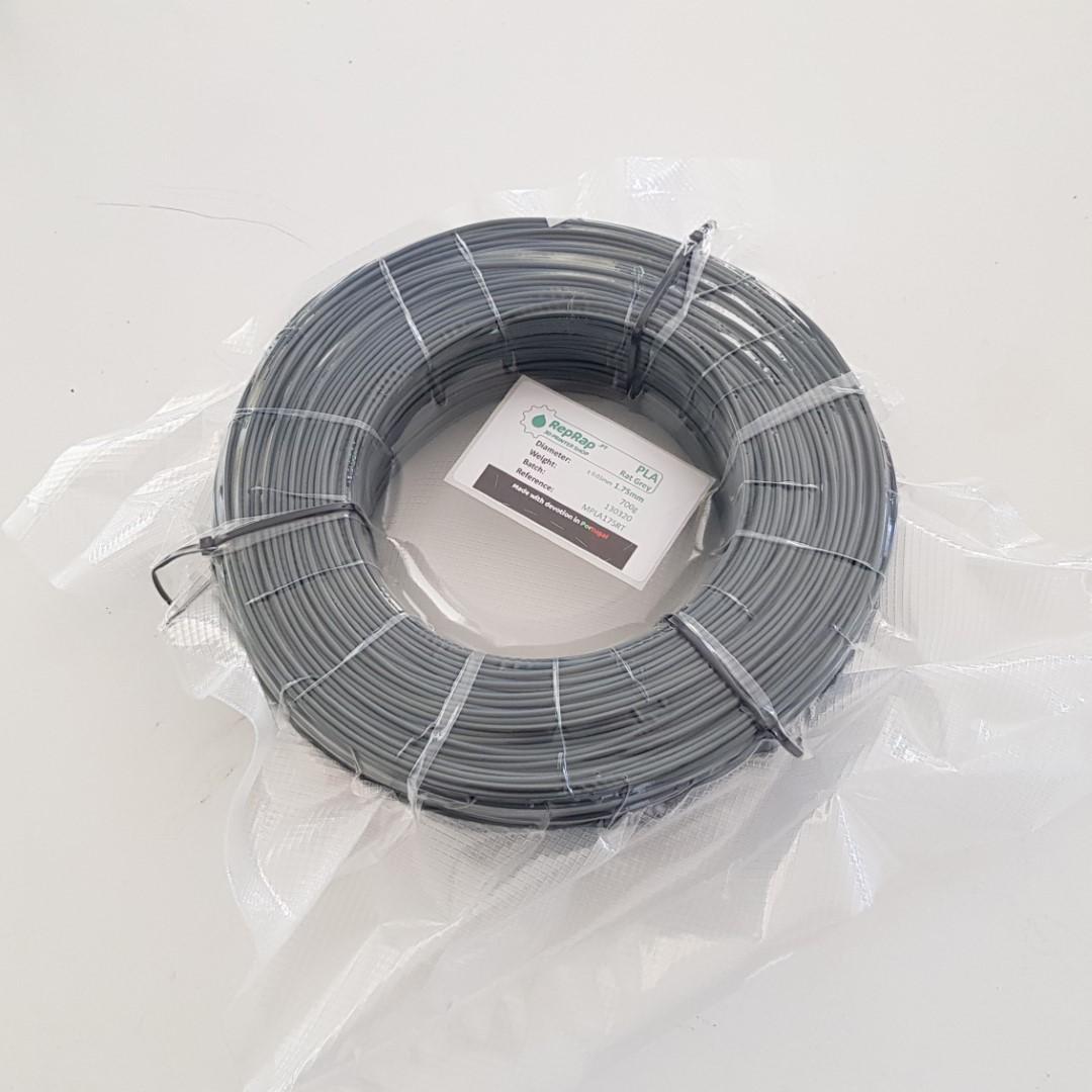 MasterSpool PLA RepRap PT - 1.75mm 0.7Kg - Cinza Rato
