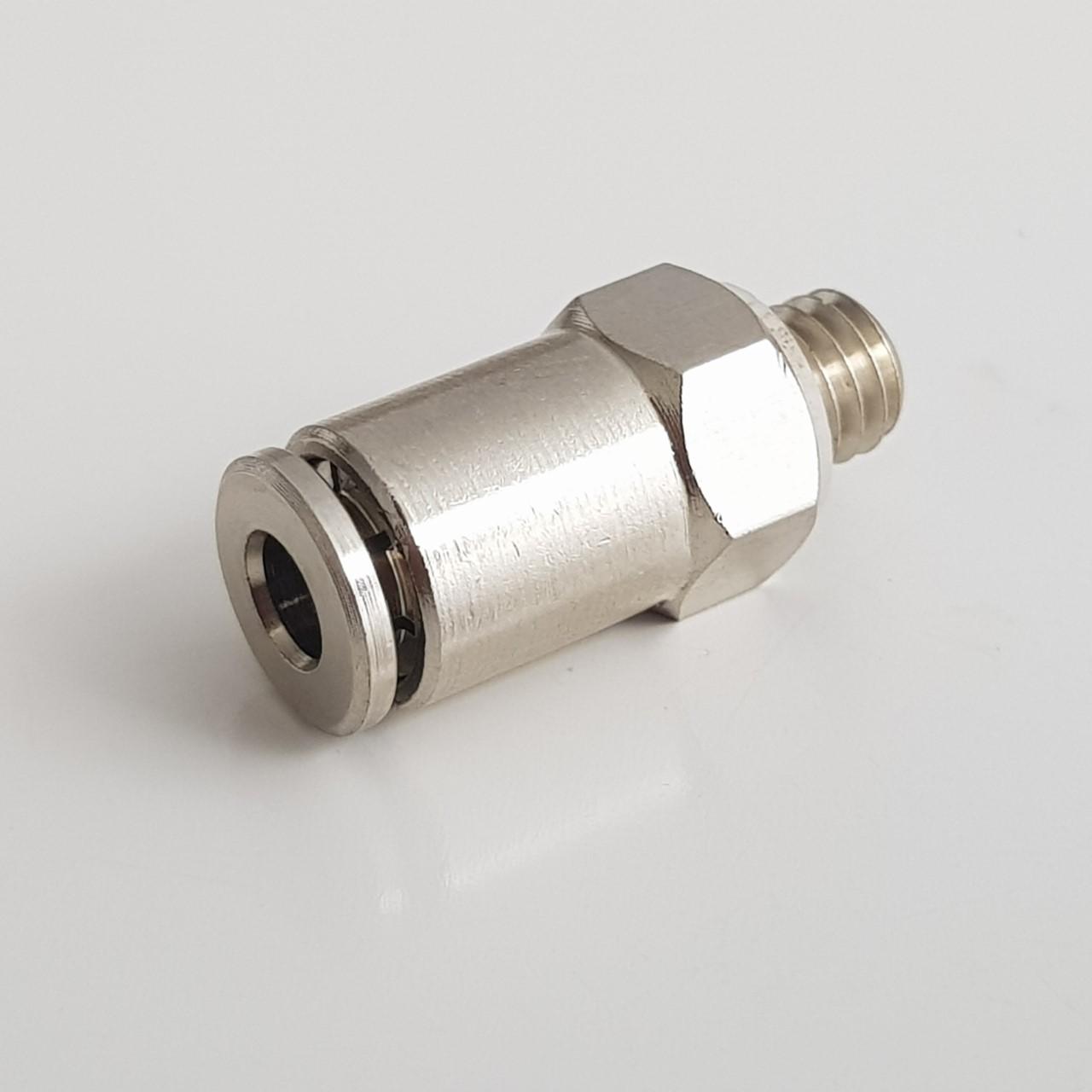 União pneumática p/tubo 4mm M6 Metal