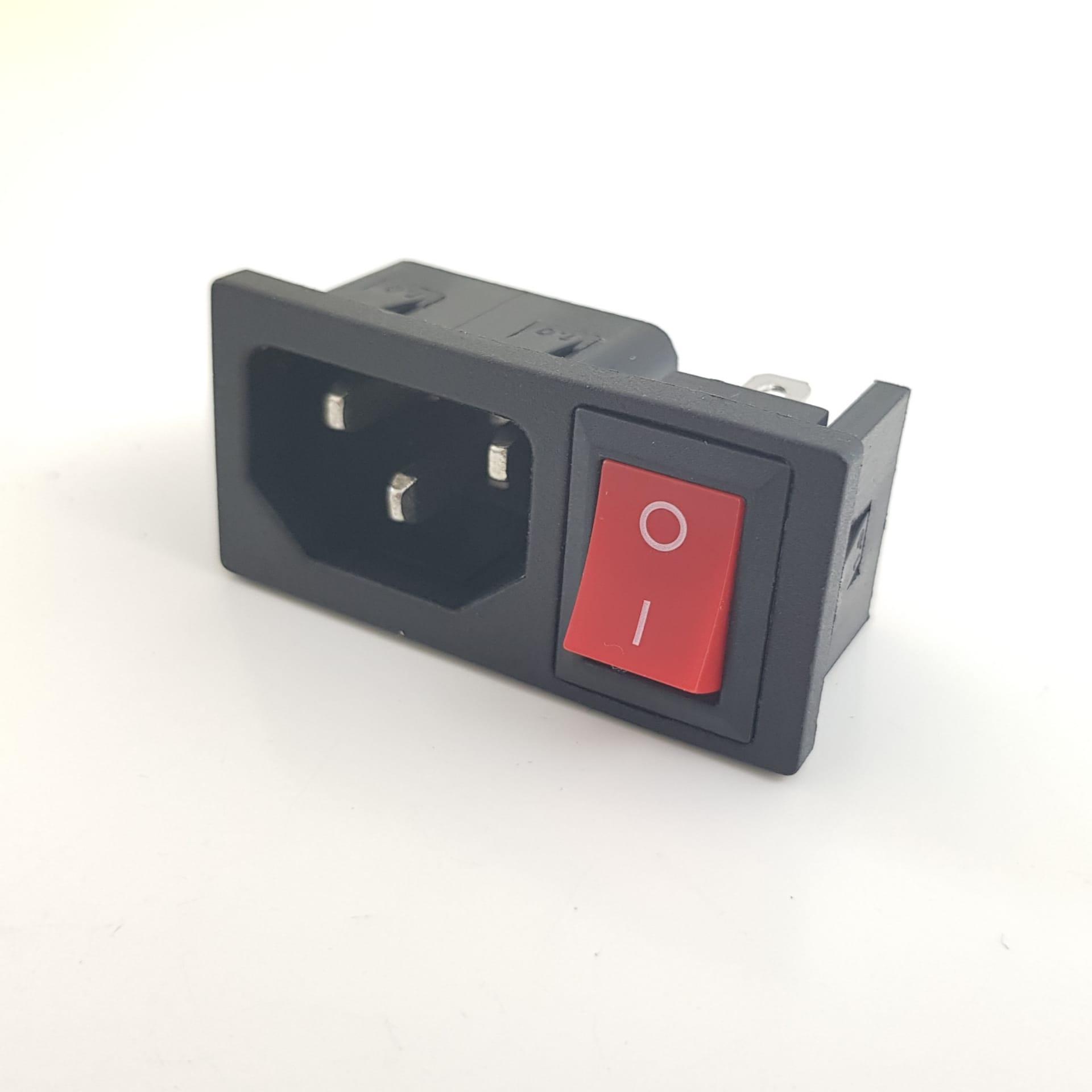 Interruptor e ficha IEC 320 C14